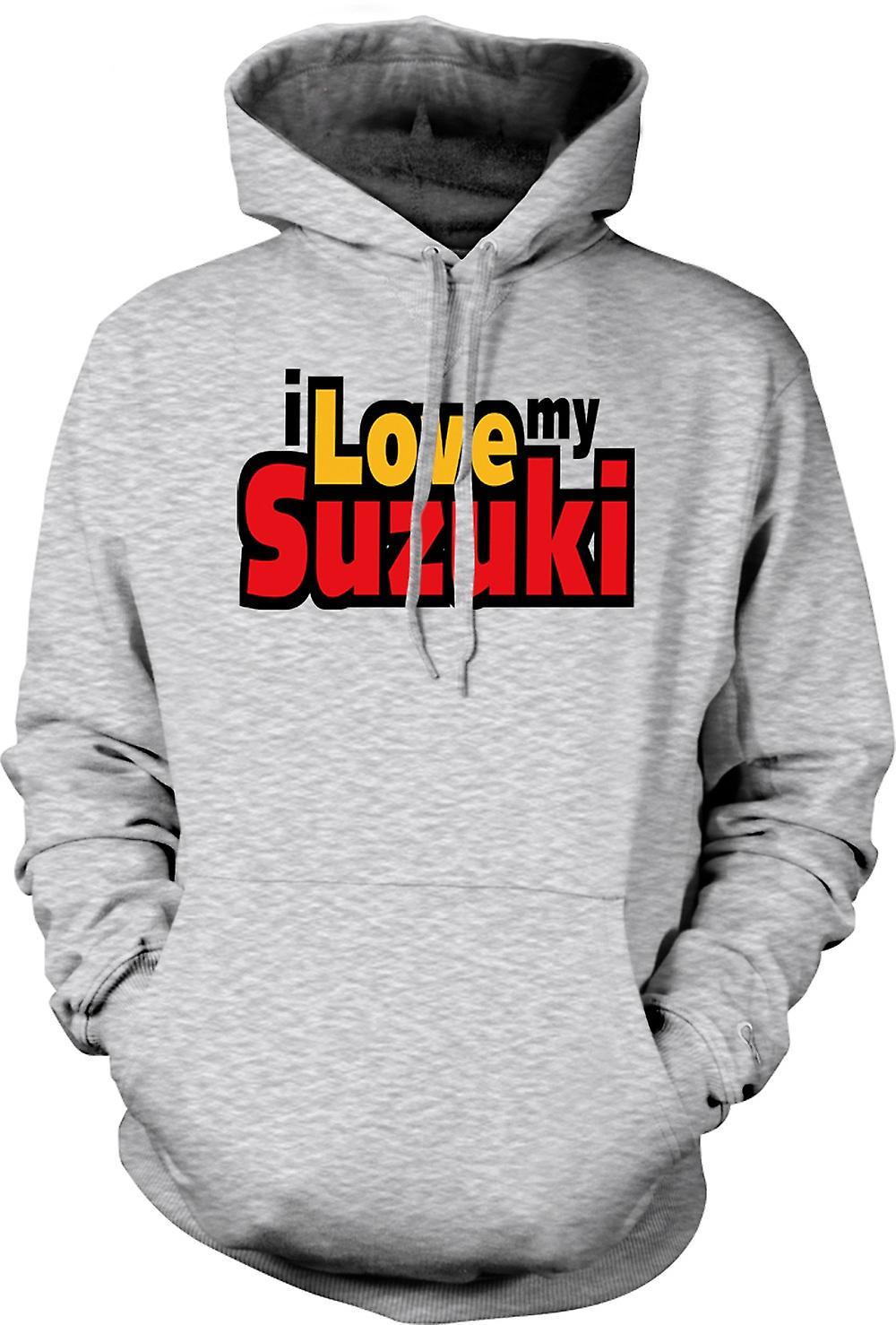 Mens Hoodie - jag älskar min Suzuki - bil entusiast