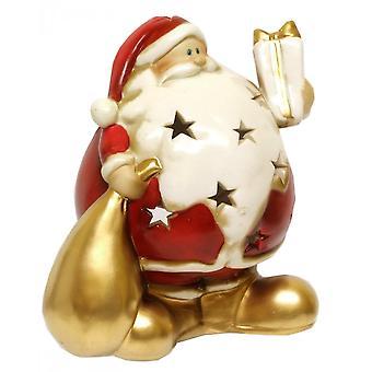 Gisela Graham Round Santa Nite Lite 50147 Sack Gisela Graham