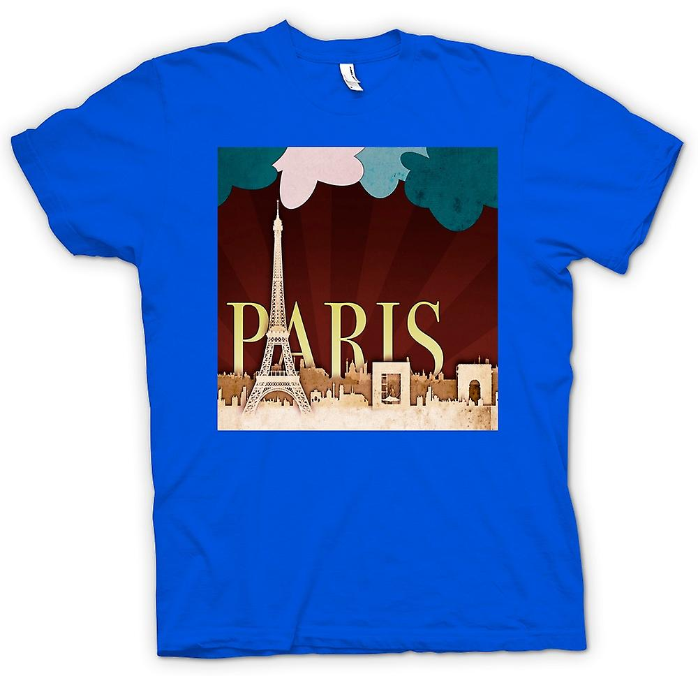 Hombres camiseta-Paris Retro Cool Poster