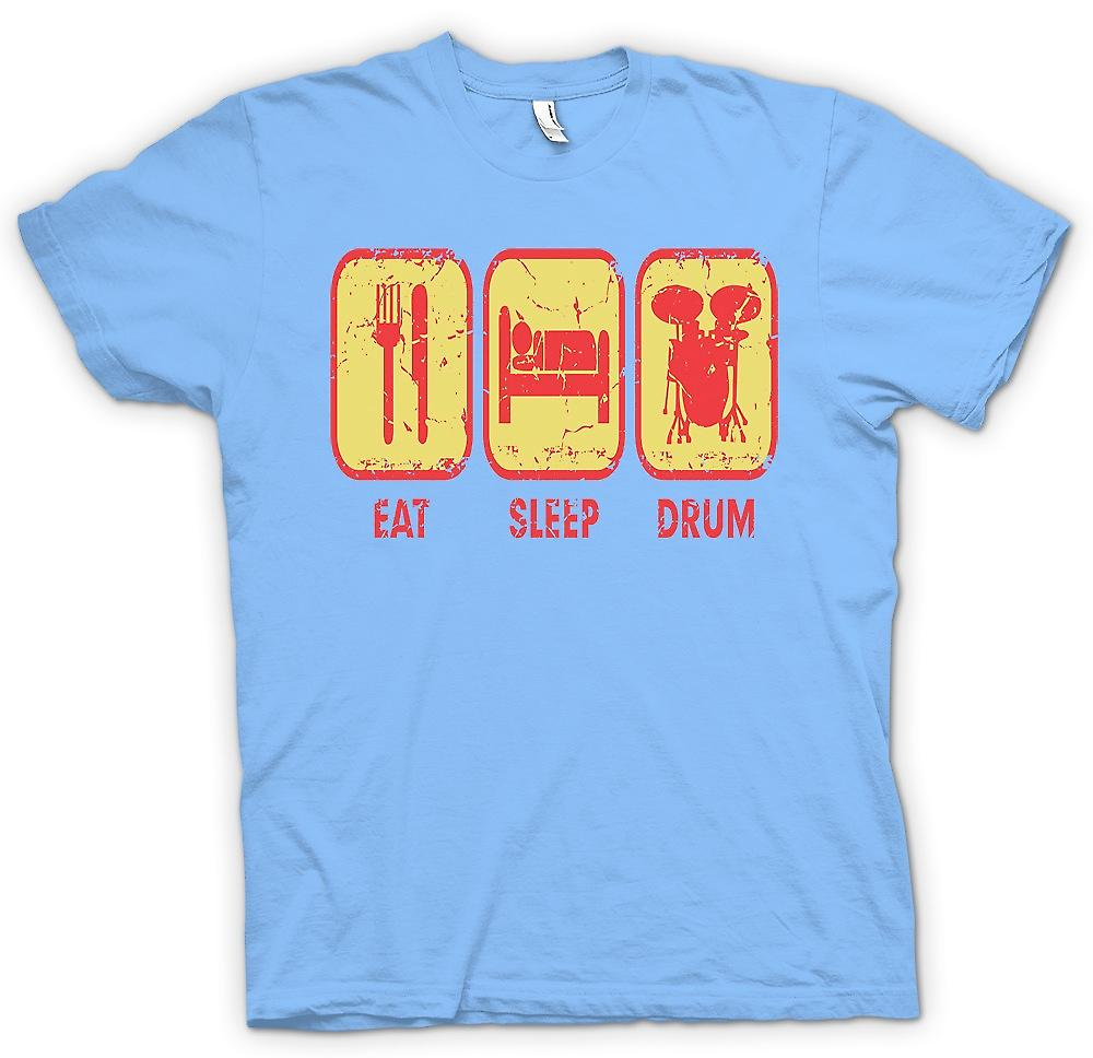 Mens t-shirt - mangiare dormire tamburo - batterista Cool