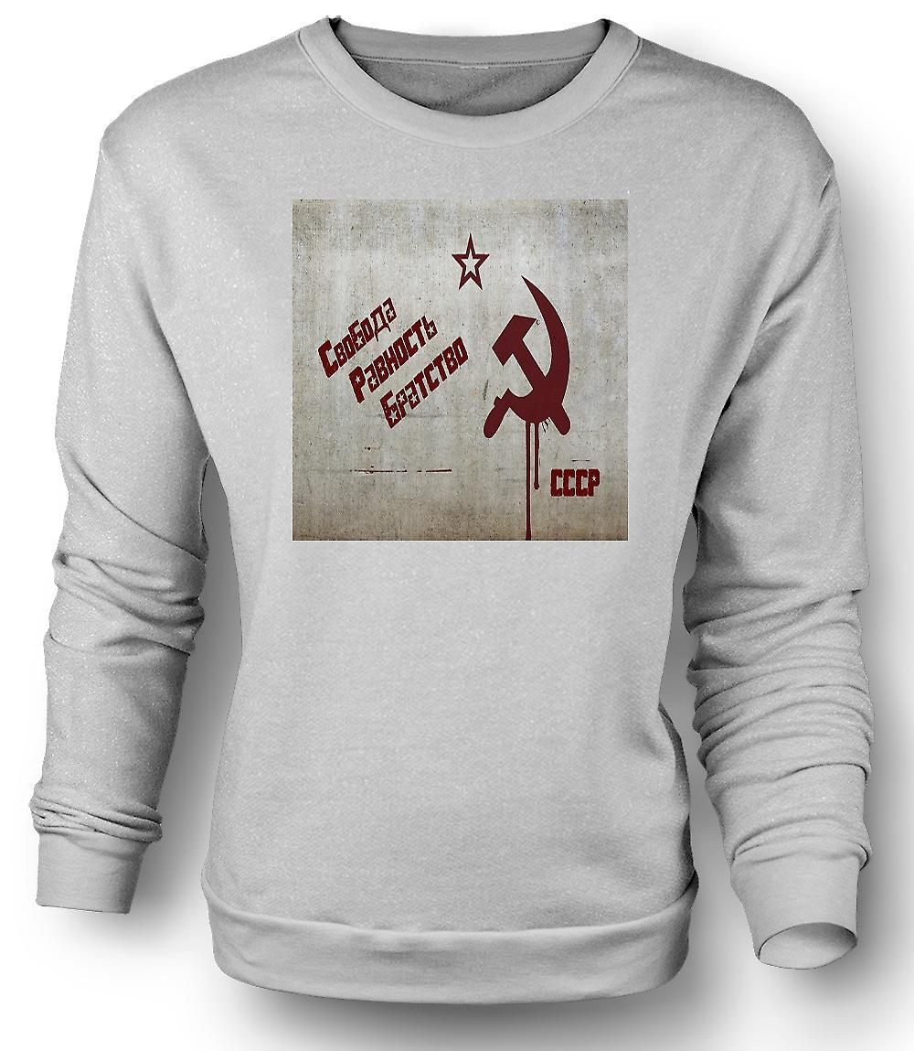 Mens Sweatshirt Soviet Union - Russia - Cool Design