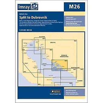 Imray Chart M26: Split to Dubrovnik - M Series M26 (Sheet map, folded)