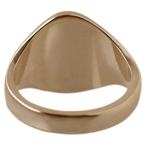 9ct rose gold ladies plain oval signet ring 13x10mm