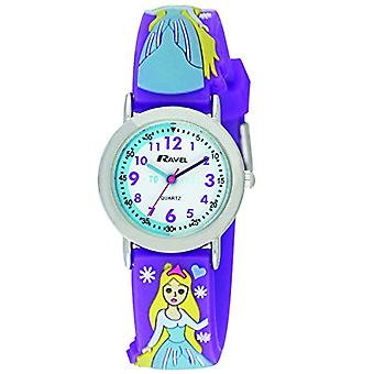 Ravel Cartoon Snow Princess 3D with multicolored strap in children _ wrist watch for women, multicolored plastic strap R151375