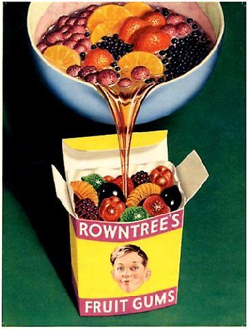 Rowntrees Fruit Gums steel wall sign  (og)