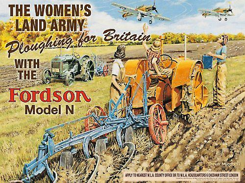 Fordson Womens Land Army metal sign  (og 2015)