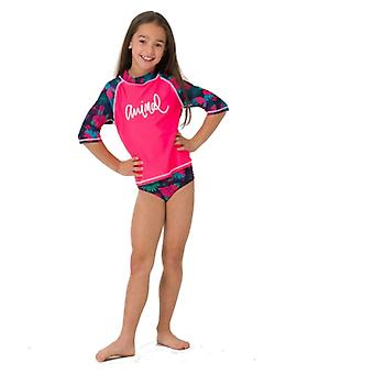 Animal Girls Paddle Rash Vest Suit | Psycho Red