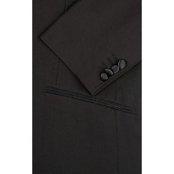 رجل Dobell الأسود البدلة الرسمية عشاء سترة نحيل صالح الشق طية صدر السترة