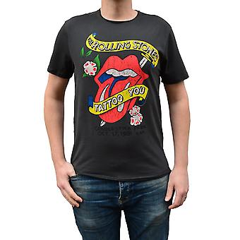 Amplified Rolling Stones Tattoo You Charcoal Crew Neck T-Shirt S