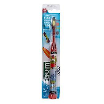 SUNSTAR GUM Children Soft Dental Floss brush with light
