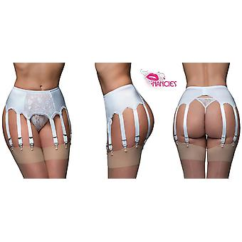 Nancies Lingerie Lace 10 Strap Suspender / Garter Belt for Stockings