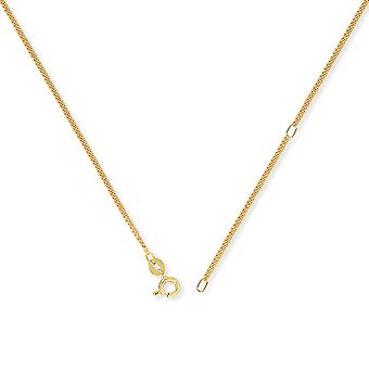 Jewelco London 9ct Gold Convertible Tightly-linked Curb to Pendant Chain Necklace - 1.6mm gauge
