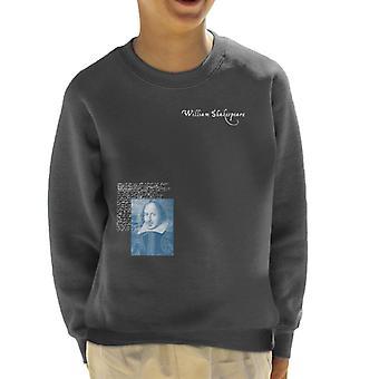 A.P.O.H Williams Shakespeare Writings Portrait Kid's Sweatshirt