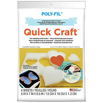Quickcraft artisanat mousse 5 « X 7 » 4 Pkg blanc 571Qc