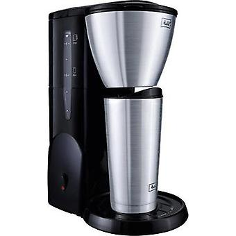 Coffee maker Melitta Single 5 Therm mit to go Stainless steel (brushed), Black Cup volume=5 Thermal jug