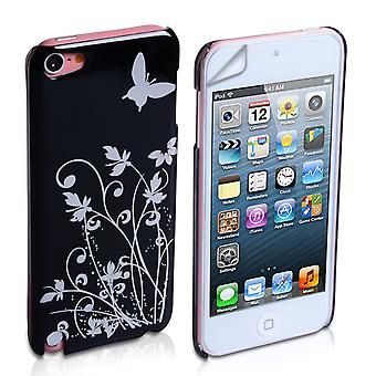 YouSave Accessori iPod Touch 5G Black Butterfly IMD Hard Case