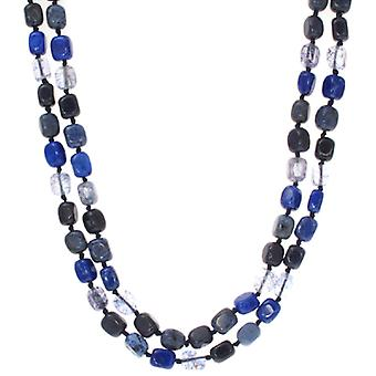 Lola Rose Ruby Rae Necklace Sapphire Blue Magnesite French Navy Quartzite