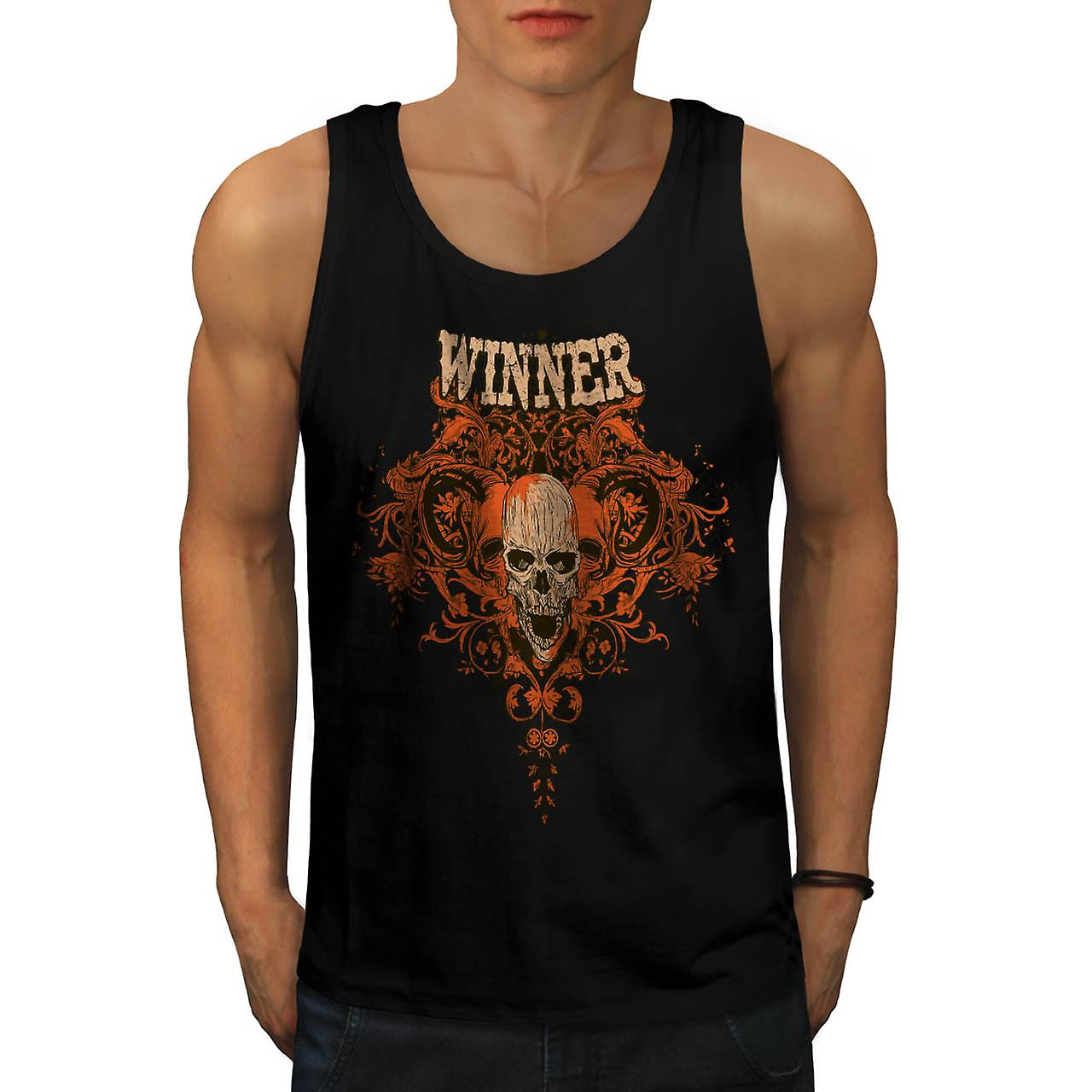 Winner Animal Skull Monster Head Men Black Tank Top | Wellcoda