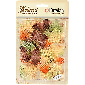 Textured Elements Burlap Leaves 36/Pkg-Fall Mix RS500130