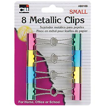 Mini Binder Clips 12/Pkg-Assorted Metallics CL80108