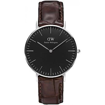 Daniel Wellington DW00100146 York - watch brun læder Croco blandet