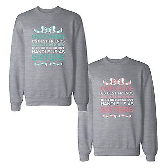 God Made Us BFF SweatshirtsCute Friendship Matching Sweat Shirts