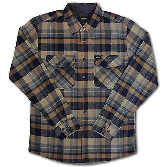 Brixton Flynn Flannel L/S Shirt Navy Khaki