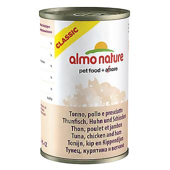 Almo Nature Cat Adult Tuna With Ham 140g (Pack of 24)