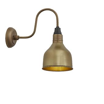 Brooklyn Vintage Antique Swan Neck Wall Sconce - Cone - Brass - 7