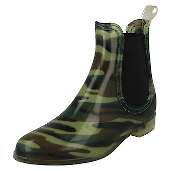 Womens Spot On Ankle Wellington Boot