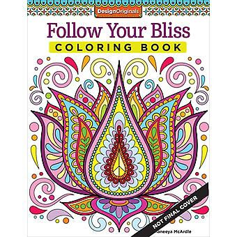 Follow Your Bliss Coloring Book (Coloring Activity Book) by McArdle Thaneeya