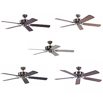 Ceiling Fan Potkuri aged silver, selectable blade colour