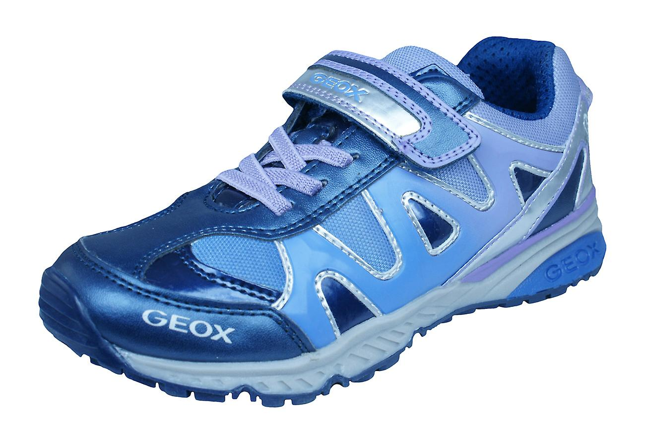 Geox J Bernie G.D Girls Trainers   chaussures - Navy and violetc