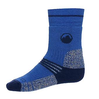New Peter Storm Boy's Midweight Trekking Socks (2 pack) Blue