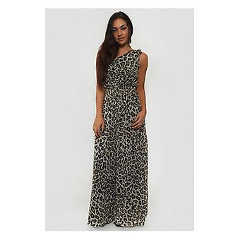 The Fashion Bible One Shoulder Brown Leopard Print Jumpsuit
