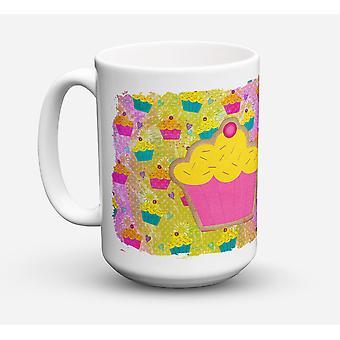 Once de lave-vaisselle sûre pour micro-ondes céramique Coffee Mug 15 Cupcake