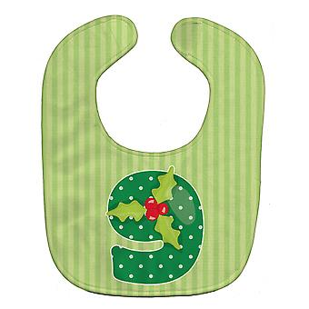 Carolines skatter BB8695BIB Christmas måned 9 Holly Baby Bib