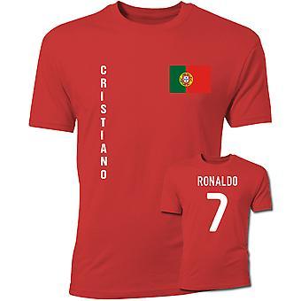 T-shirt de Cristiano Ronaldo drapeau du Portugal (rouge)