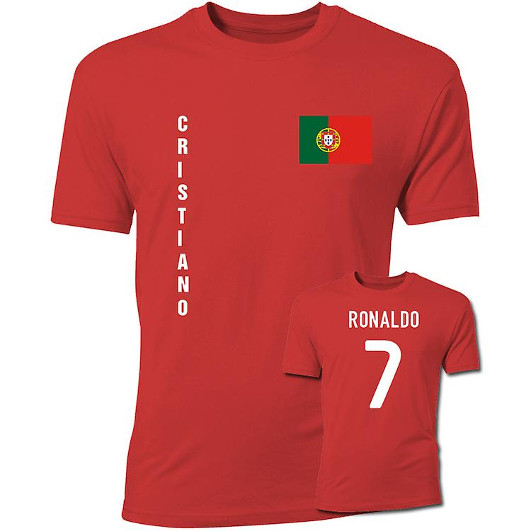 Cristiano Ronaldo Portugal sjunker T-tröja (Röd)