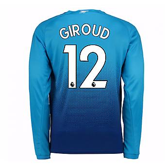 2017-2018 Arsenal Away Long Sleeve Shirt (Giroud 12) - Kids