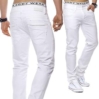 Men's Denim Jeans white elegant summer look trousers regular fit W29 - W44