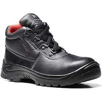 V12 V6471 Elk Black Grained 4 D-Ring Boot EN20345:2011-S1P Size 7