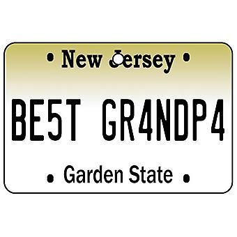 New Jersey - Best Grandpa License Plate Car Air Freshener