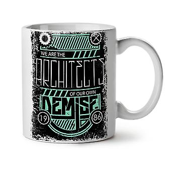 We Are Architects NEW White Tea Coffee Ceramic Mug 11 oz   Wellcoda