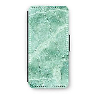 iPhone 5c Flip Case - Green marble