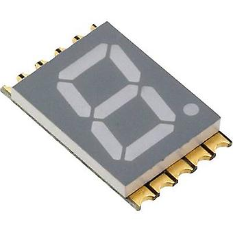 Seven-segment display Red 10 mm 2 V No. of digits: 1