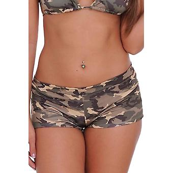 Frauen Junioren Hot Shorts Camouflage Bikini Beach Bademode