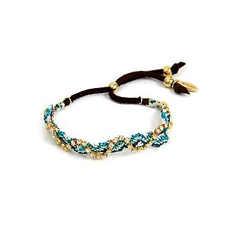 Ettika - Crystal white Friendship Bracelet and braided cotton blue