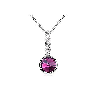 Circle pendant adorned with Crystal by Swarovski Violet