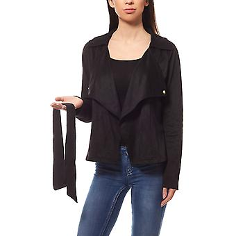 Faux leather jacket in suede look black B.C. best connections